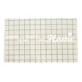 La finesse Bavlněný kobereček Place Like Home, šedá barva, černá barva, bílá barva, textil