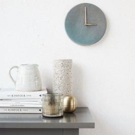House Doctor Nástěnné keramické hodiny Grey/Blue, modrá barva, šedá barva, keramika