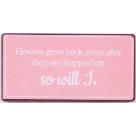 La finesse Magnet Flowers grow back, růžová barva, kov