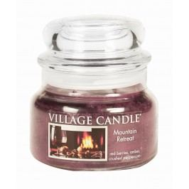VILLAGE CANDLE Svíčka ve skle Mountain Retreat - malá, fialová barva, sklo, vosk