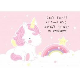 A Little Lovely Company Pohlednice Trust Unicorn, růžová barva, papír