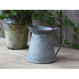 Chic Antique Zinkový dekorativní mini džbán French 12cm, šedá barva, zinek