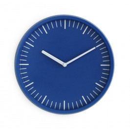 normann COPENHAGEN Nástěnné hodiny Day Wall Clock Blue, modrá barva, sklo, kov