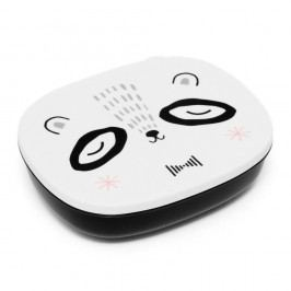 PETIT MONKEY Krabička na svačinu Mr Panda - černá, černá barva, bílá barva, plast