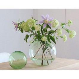 COOEE Design Kulatá skleněná váza Ball Glass Green 15 cm, zelená barva, sklo