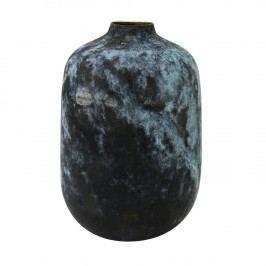 HK living Mosazná váza Multicolor Brass, modrá barva, kov
