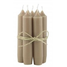 IB LAURSEN Svíčka Milky brown - set 6 ks, hnědá barva, vosk