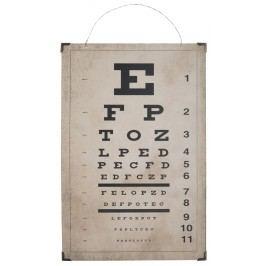 IB LAURSEN Dřevěná cedule Eye Test, béžová barva, přírodní barva, dřevo, dřevotříska