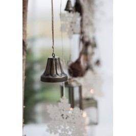 IB LAURSEN Dekorativní zvonek Bell large, hnědá barva, přírodní barva, kov