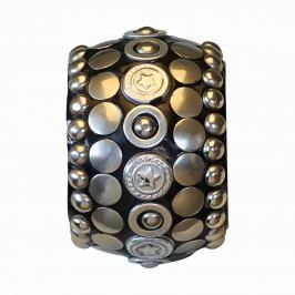 GREEN GATE Kroužek na ubrousky Karma Silver, černá barva, stříbrná barva, kov, plast