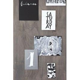 Ylva Skarp Pohlednice na každý den - 7 ks, černá barva, papír