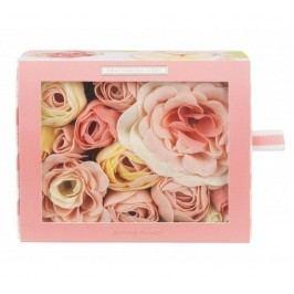HEATHCOTE & IVORY Mýdlové květy do koupele Blush Rose, růžová barva, papír
