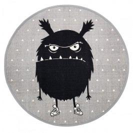 Bloomingville Kobereček do dětského pokoje Monster Grey, šedá barva, černá barva, textil