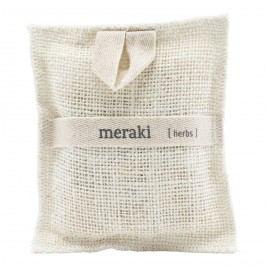 meraki Jutová žínka s kousky mýdla Herbs, přírodní barva