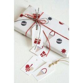 IB LAURSEN Balící papír Christmas - 10 m, červená barva, bílá barva, papír