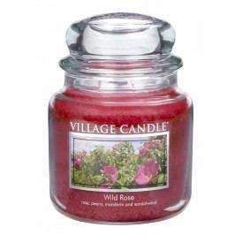 VILLAGE CANDLE Svíčka ve skle Wild rose - střední, růžová barva, sklo