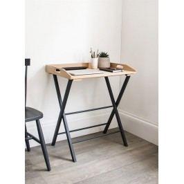 Garden Trading Skládací stůl Carbon Oak, černá barva, hnědá barva, dřevo