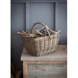 Garden Trading Úložný ratanový koš Bembridge, hnědá barva, dřevo