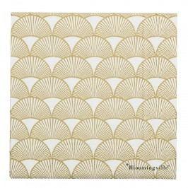 Bloomingville Papírové ubrousky Gold Paper, zlatá barva, papír