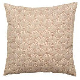 Bloomingville Bavlněný polštář Brown Cotton 50x50cm, hnědá barva, textil
