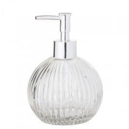 Bloomingville Zásobník na mýdlo Glass Clear, stříbrná barva, čirá barva, sklo, plast