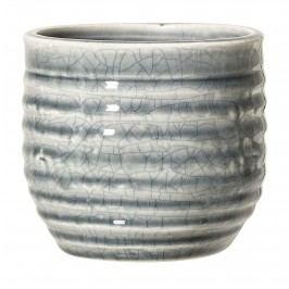 Bloomingville Obal na květináč Grey 10,5cm, šedá barva, keramika 11cmx10,5cm