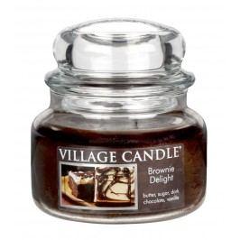 VILLAGE CANDLE Svíčka ve skle Brownie delight - malá, hnědá barva, sklo