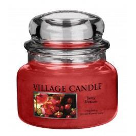 VILLAGE CANDLE Svíčka ve skle Berry Blossom - malá, červená barva, sklo, vosk