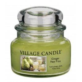 VILLAGE CANDLE Svíčka ve skle Ginger Pear Fizz - malá, zelená barva, sklo, vosk