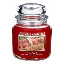 VILLAGE CANDLE Svíčka ve skle Crisp apple - střední, červená barva, sklo
