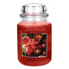 VILLAGE CANDLE Svíčka ve skle Berry Blossom - velká, červená barva, sklo, vosk
