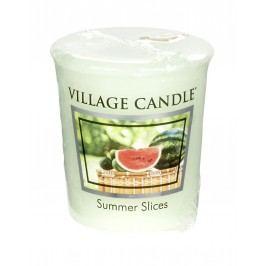 VILLAGE CANDLE Votivní svíčka Village Candle - Summer slices, zelená barva