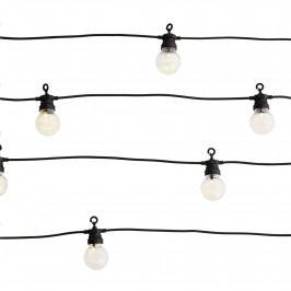 MADAM STOLTZ Venkovní světelný LED řetěz Ball Black - 10 žárovek, černá barva, plast