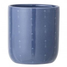 Bloomingville Keramický obal na květináč Blue Arrow, modrá barva, keramika