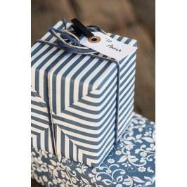 IB LAURSEN Balicí papír Dark Blue Wide - 10m (úzký), modrá barva, papír