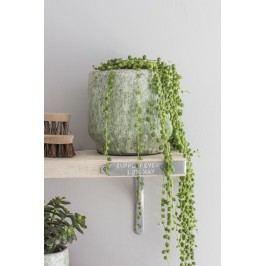 Garden Trading Obal na květináč Alderton, zelená barva, keramika 17cmx17cm
