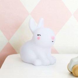 A Little Lovely Company Noční LED lampička Bunny, bílá barva, plast