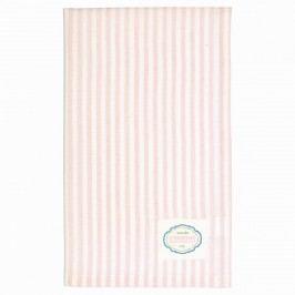 GREEN GATE Kuchyňská utěrka Alice Pale pink, růžová barva, textil