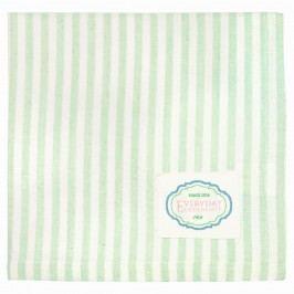 GREEN GATE Látkový ubrousek Alice Pale green, zelená barva, bílá barva, textil