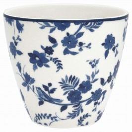 GREEN GATE Latte cup Vanessa blue 350ml, modrá barva, bílá barva, porcelán 350 ml