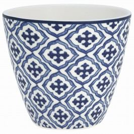 GREEN GATE Latte cup Hope blue 350ml, modrá barva, bílá barva, porcelán 350 ml