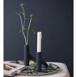 KÄHLER Keramický svícen/váza Nellemann Blueberry Blue, modrá barva, keramika