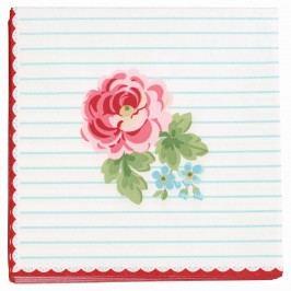 GREEN GATE Papírové ubrousky Lily white, růžová barva, modrá barva, zelená barva, papír