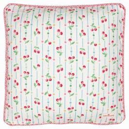 GREEN GATE Povlak na polštář Cherry white 40x40, růžová barva, textil