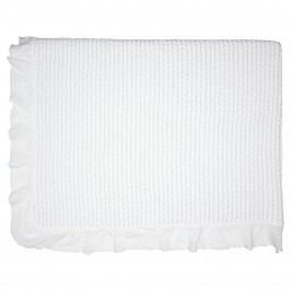 GREEN GATE Prošívaný přehoz Cross white 140x220, bílá barva, textil