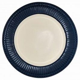 GREEN GATE Obědový talíř Alice dark blue, modrá barva, porcelán