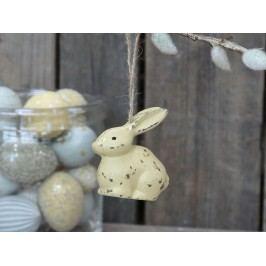 Chic Antique Dekorativní králíček Rabbit Melon, žlutá barva, zlatá barva, dřevotříska, pryskyřice