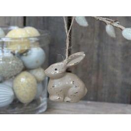 Chic Antique Dekorativní králíček Rabbit Dark Champagne, béžová barva, hnědá barva, dřevotříska