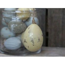 Chic Antique Závěsné plastové vejce Melon Gold, žlutá barva, zlatá barva, plast