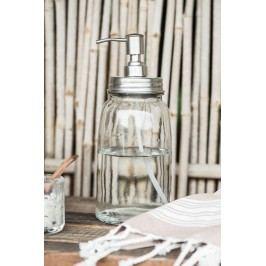 IB LAURSEN Skleněný zásobník na mýdlo 1L, čirá barva, sklo